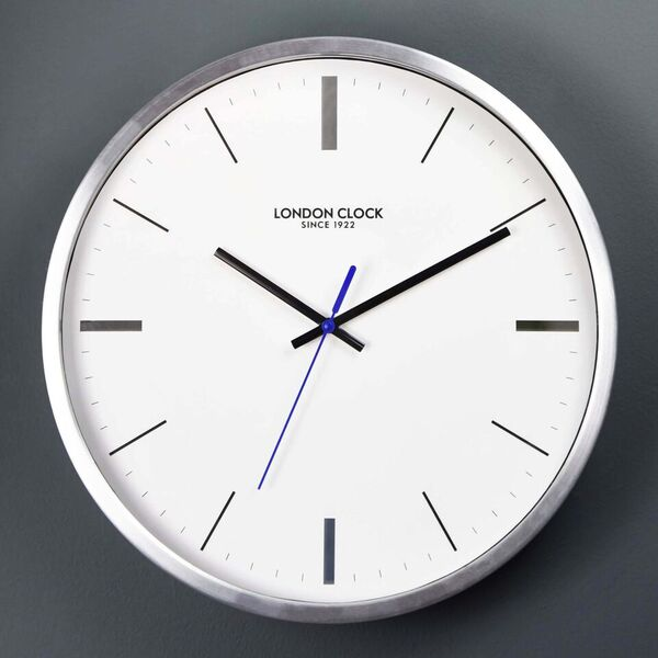 Wall Clock Round Sliver Kitchen Without Numbers Engagment Presents