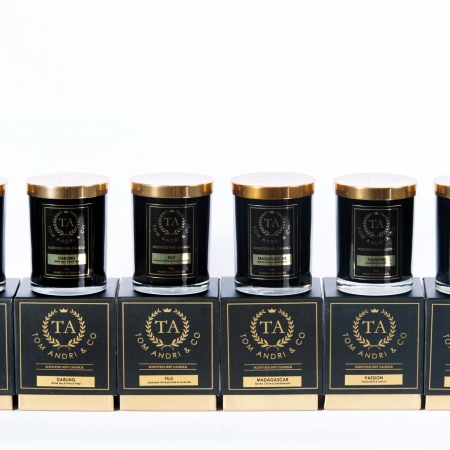 soy candles, scented candles,candles,Tom Andi & co