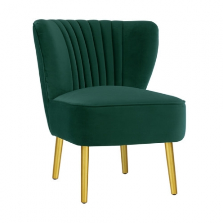 Ivy Green Velvet Slipper Chair