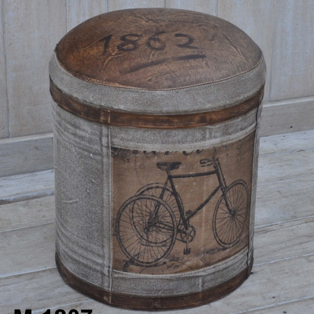 Bicycle Round Ottoman