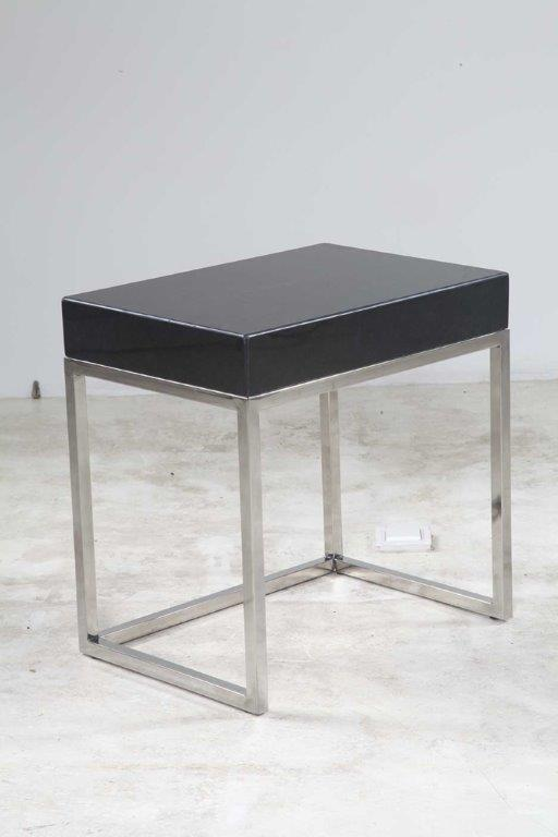 Italian Black Marble side Table