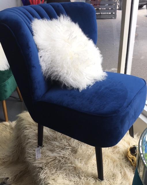 slipper chair, velvet chair, bedroom chair, womens birthday gift