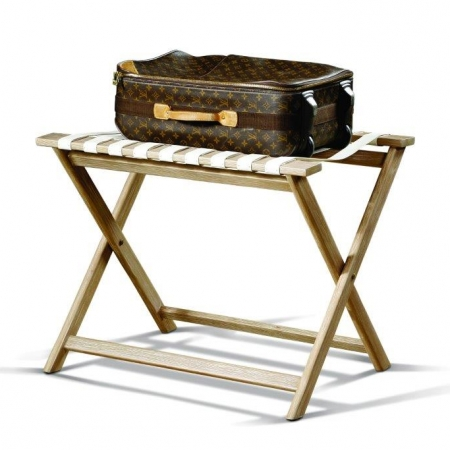 Leather luggage rack