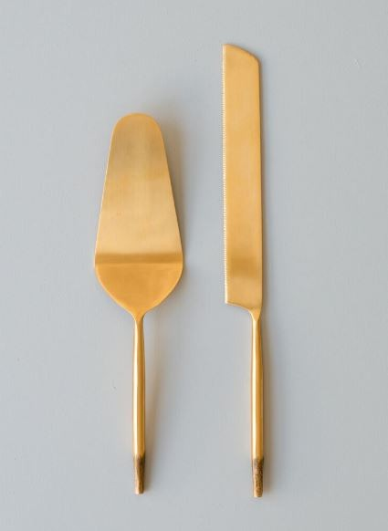 Nel Lusso Cake Server and knife set