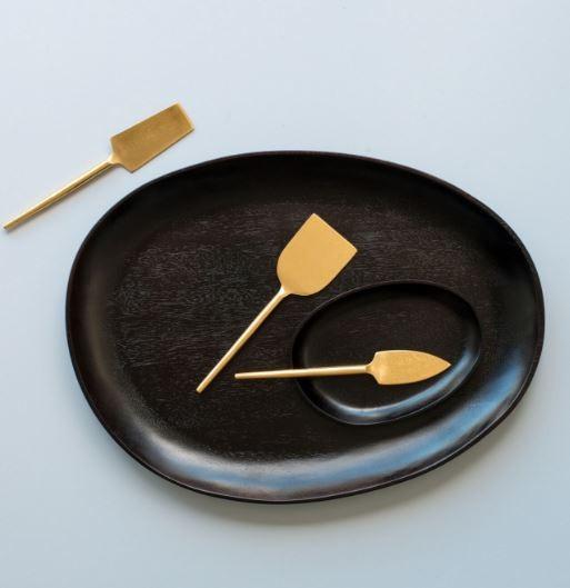 Nel Lusso Oval Black Platter