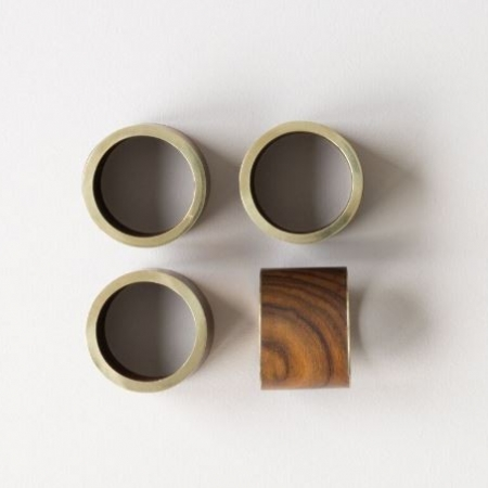 Nel Lusso Round Brass Rim Napkin holders