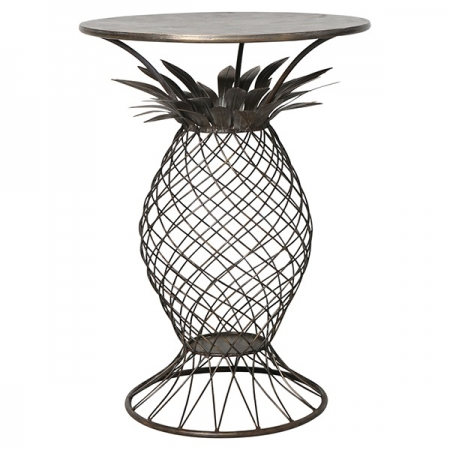 side table, pineapple tables, outdoor indoor tables, occasional tables