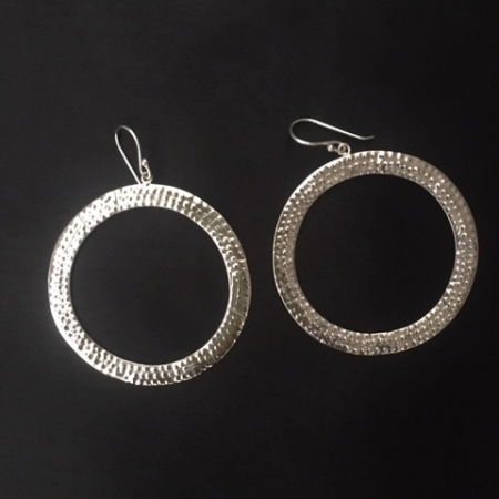 earrings, silver earrings, hoops, silver hoops