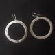 earrings, silver earrings, hoops, silver hoops