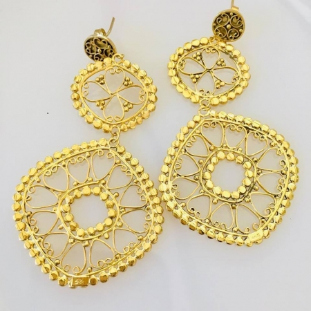 earrings, gold, silver gift, everday earrings,