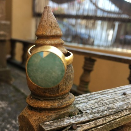 Green Adventurine Dress Ring