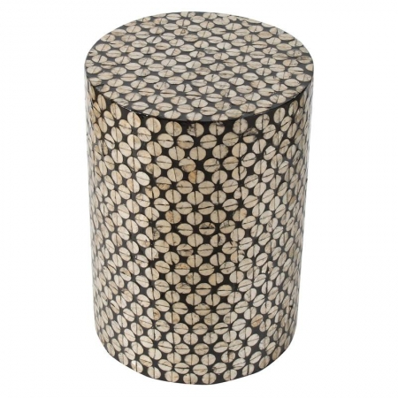 Shshell Inlay Stool/ Side Table