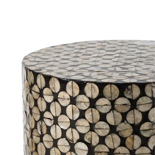 Shell Inlay Stool/ Side Table