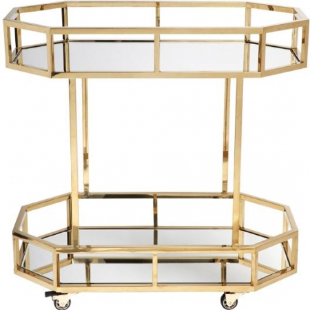 Gold Frame, Mirrored Bar Cart