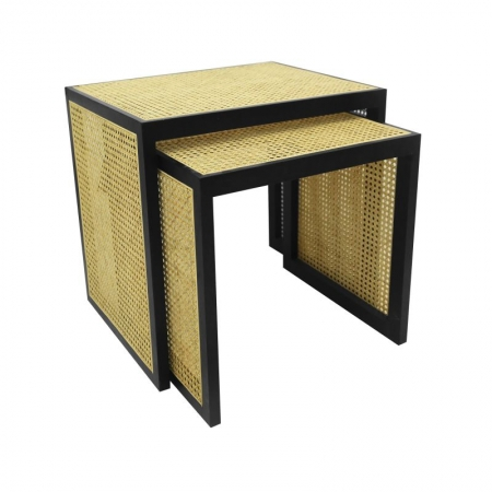 Rattan Stacking Side Tables