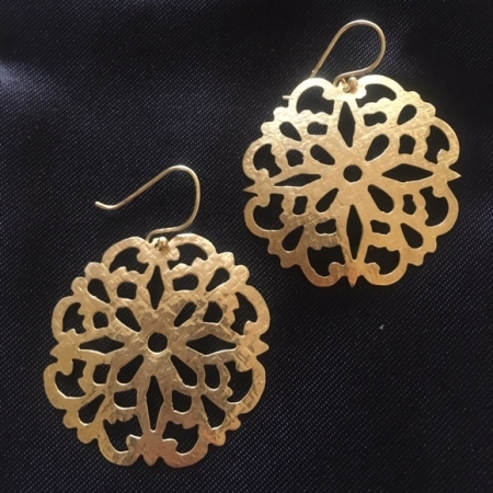 Daisy Mandala Gold Earrings