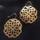 Daisy Mandala Gold Earrings