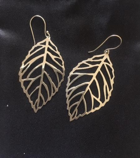 Leaf Skeleton Earrings