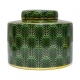 Green Palm Leaf Cannister