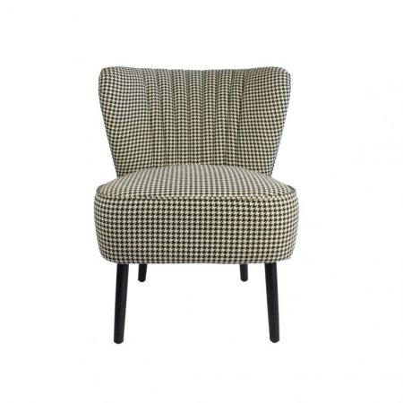 Houndstooth Slipper Chair