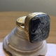 Howlite Brass Ring