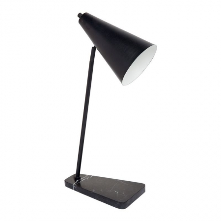 Rocket Black Marble Desk Lamp