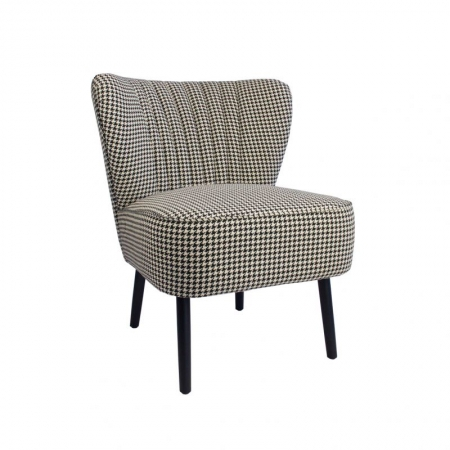 Houndstooth Slipper Chair