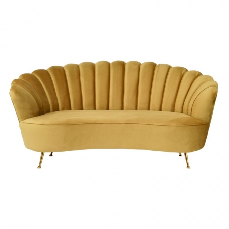 Gold Velvet Shell Sofa
