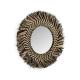 Zebra Raffia Round Mirror