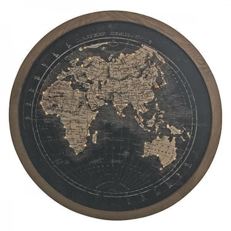 Round LED WALL WORLD MAP