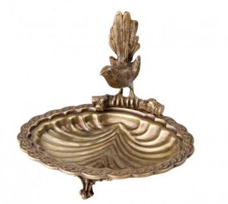 Brass Bird Trinket Dish