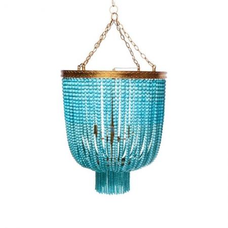 Aqua and Gold Pendant Light