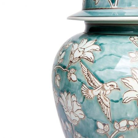 Glazed Ceramic Temple Jar