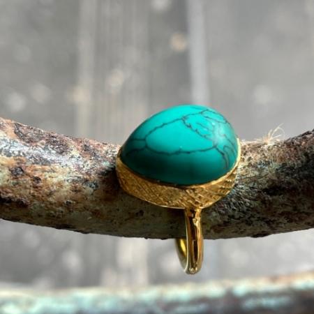 Tear Drop Turqouise Ring
