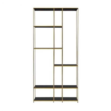 Gold Display shelving unit