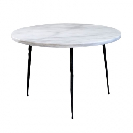 Round White side Table